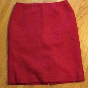 Dana Buchman red wool skirt 8